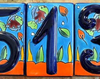 Talavera House Numbers  #1,2,3,4,5,6,7,8,9,0