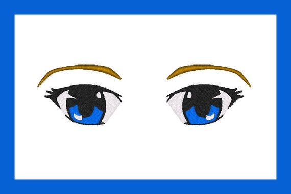 Machine Embroidery Design Anime Eyes For Dolls Or By