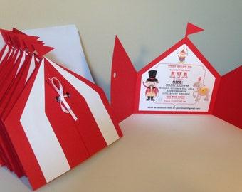 Circus invites | Etsy