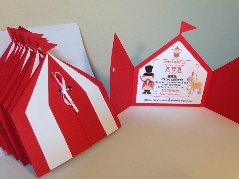 Circus invitation | Etsy