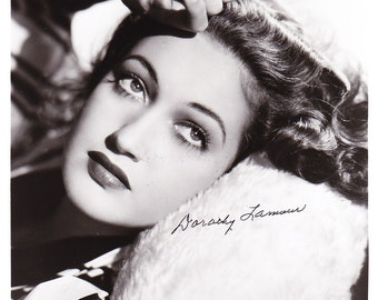 8x10 Authentic Dorothy Lamour Signed Autographed Photo, with COA