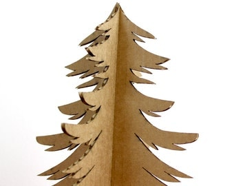 Recycled Cardboard Christmas Tree - Holiday Decor - Christmas Tree Alternative - Cardboard Christmas Decoration - PD1
