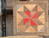 wooden barn star quilt block, reclaimed wood quilt block