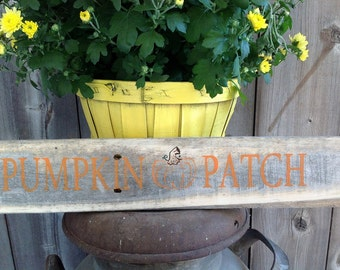 Rustic Pumpkin Patch sign Measures 23 Inches Long and 3 1/2 Inches wide, rustic sign, wood sign, rustic wood sign, pumpkin sign, rustic,