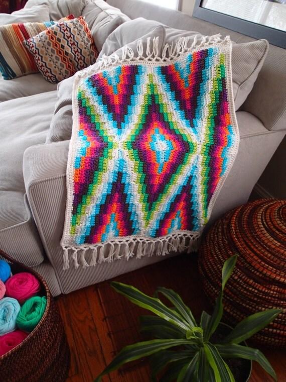 Modern Bohemian Baby Blanket Crochet Pattern Pdf Instant