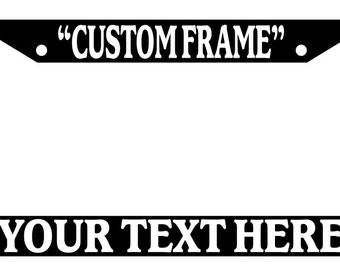 customized license plate frame auto accessory novelty