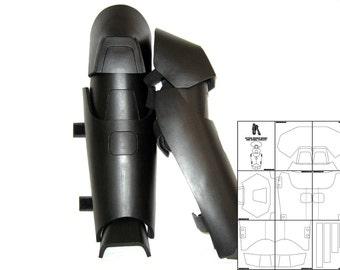 Template for Batman Arkham Origins Shin Guards