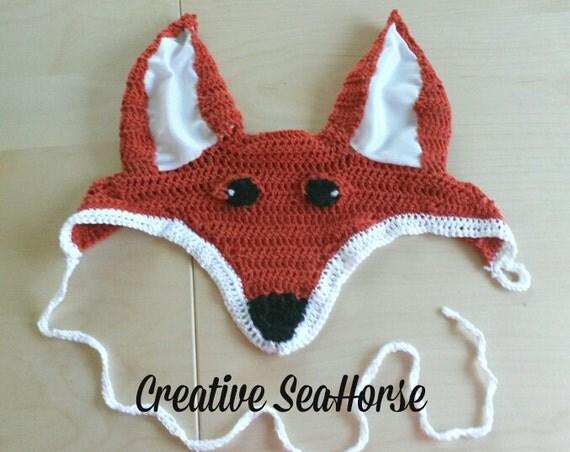 Foxy fox ear bonnet fly veil for your horse or pony !