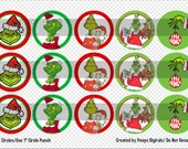 The Grinch Bottle Cap Images Instant Download *Please Read Image Details*