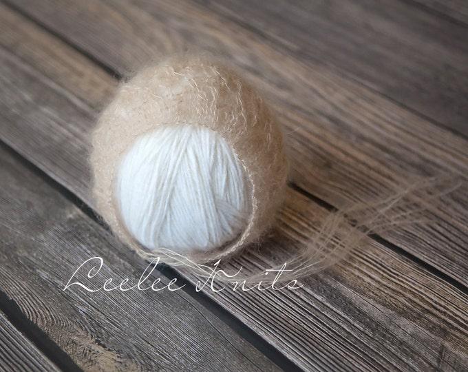 Pattern - Newborn Knit Bonnet / Newborn Knit Mohair Bonnet Pattern