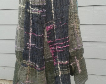 FREE SHIPPING; WhimzyCo Wool handwoven skirt