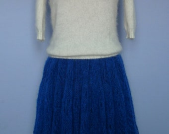 """Knitted skirt """"Electric blue"""""""