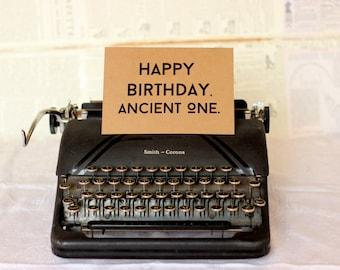 Ancient One Birthday Card : Brown Kraft Paper