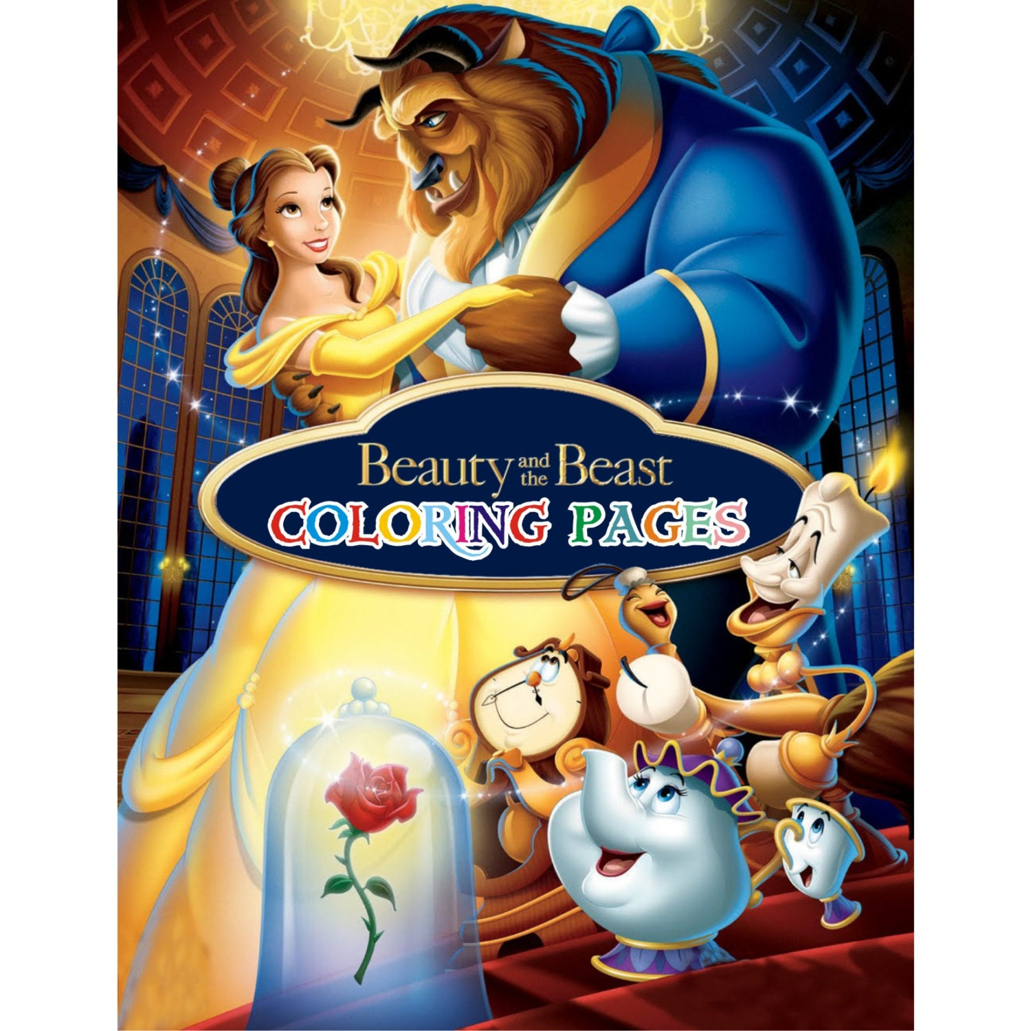 Beauty And The Beast Novel Pdf: Beauty And The Beast Coloring Pages Princess Belle Coloring