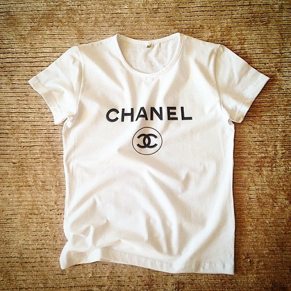 chanel t shirt screen printed t shirt for ladies chanel