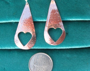 Solid copper Handcrafted earrings