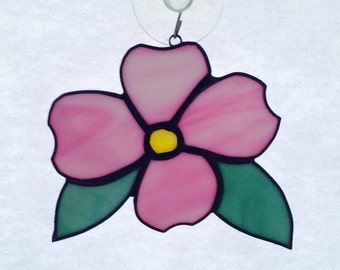Stained Glass Dogwood Suncatcher