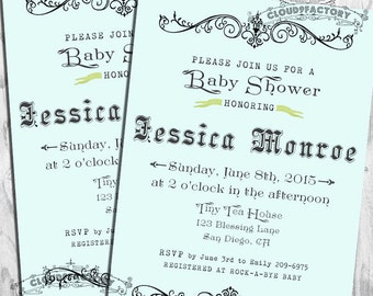 Fancy Baby Shower Invitation