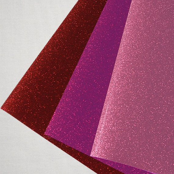 """Glitter Vinyl - Glitter Heat Transfer Vinyl - Glitter Iron On Vinyl - Silhouette Vinyl - Cricut Vinyl - Siser Easyweed Glitter - 12"""" x 19.5"""""""