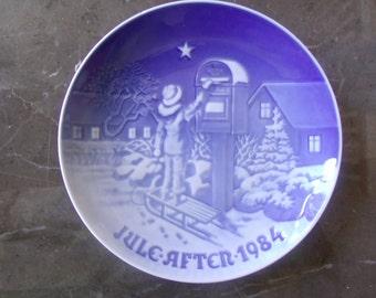 B & G Christmas Plate 1984