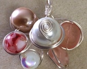 Handmade Wire-wrapped Necklace Pendant - various colours