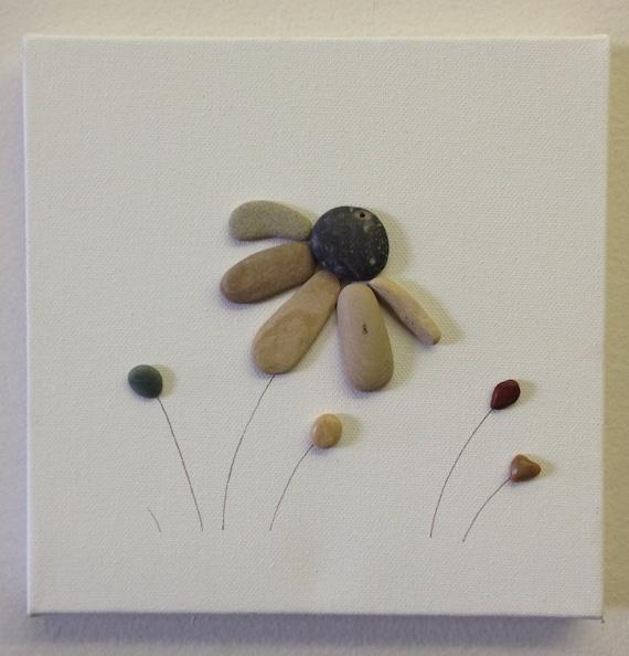 beach stone artwork pebble art canvas art. Black Bedroom Furniture Sets. Home Design Ideas