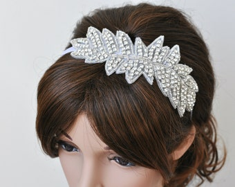 Wedding headpiece, headband, LUNA, Rhinestone Headband, Wedding Headband, Bridal Headband, Bridal Headpiece, Rhinestone
