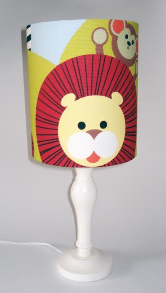 Cheeky jungle animal design lampshade for ceiling or bedside lights