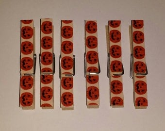 Halloween clothespins- Set of 6