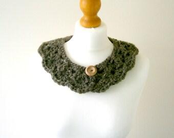 CROCHET COLLAR PATTERN, Crochet Collar, Collar Pattern, Peter Pan Collar, Shell Collar, Crochet Pattern, Womens Collar - The Sienna Collar