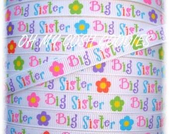"BIG SISTER FLOWERS 3/8"" - 5 Yards - Oh My Gosh Goodies Ribbon"