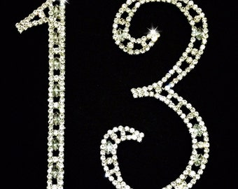 13th Birthday Number Cake Topper Large Swarovski