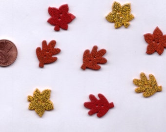 Favorite Findings Leaf Pile Autumn Novelty Buttons