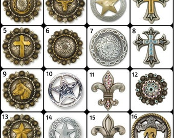 Western Conchos for Saddles, Leather, Wood, and Many Other Projects