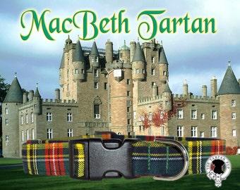 MacBeth Tartan Dog Collar