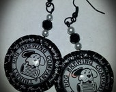Rounded Bottle Cap Earrings - Thirsty Dog Brewing Company