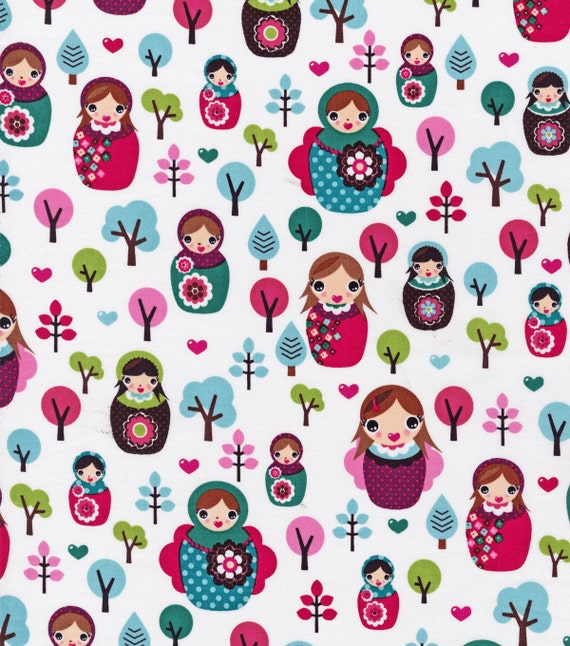 Svetlana 39 s forest novelty fabric russian dolls baby for Kids novelty fabric