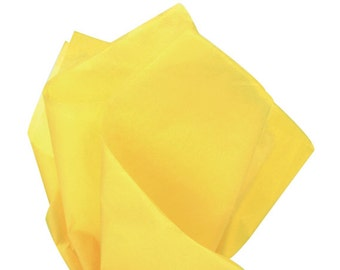 DANDELION Dark Yellow Tissue Paper 24 Sheets Premium Tissue Paper for Craft Projects, Gift Wrapping, and DIY