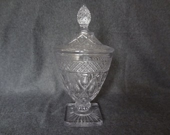 Crystal Candy Dish with Pineapple top lid