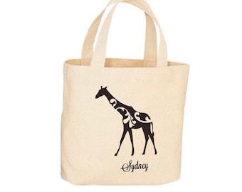 Beach Tote - Giraffe Tote - Beach Bag, Tote Bag - Natural Cotton - Personalized Tote, Shopping Bag, Beach Bag, Wedding Tote, Workout Bag