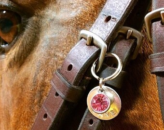 Custom Hand Stamped Bridle Charm | Bridle Charm | Bridle Tag | Emily's Equine Creations