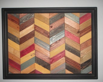 Recycled Wood Chevron Wall Art