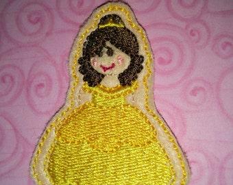 Set of 4 Beauty and the Beast Belle Princess Cutie Feltie Felt Embellishment Bow!