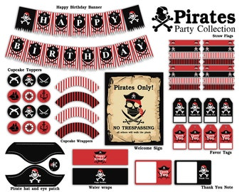 Pirate Party Printable Package - Instant Download