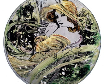 mucha stained glass etsy