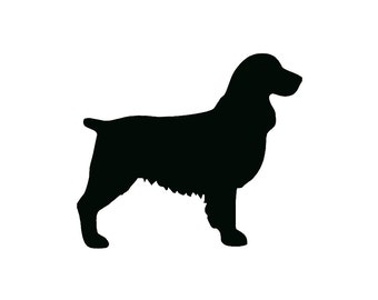 springer spaniel dog breed silhouette custom die cut vinyl decal sticker choose your color and
