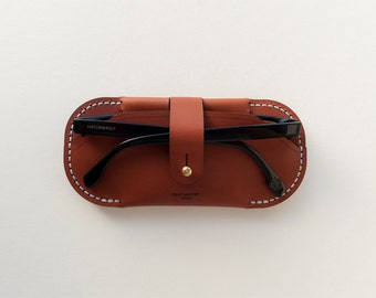 Slim Leather Sunglasses / Glasses Case
