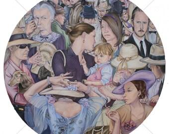 "Fine art Giclée print ""Timecop"" by Antonia Sanker"