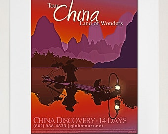 China Art Travel Poster Tourism Print (TR25)