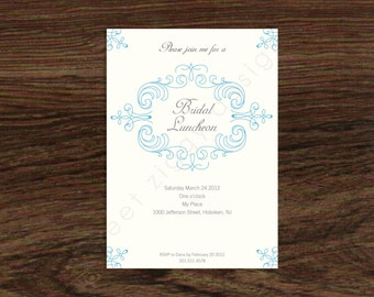 Printable Bridal Luncheon Invitation - Digital Files Only